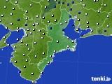 2017年09月30日の三重県のアメダス(風向・風速)
