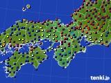 2017年10月05日の近畿地方のアメダス(日照時間)