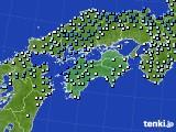 2017年10月06日の四国地方のアメダス(降水量)