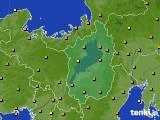 2017年10月11日の滋賀県のアメダス(気温)