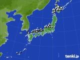 アメダス実況(降水量)(2017年10月12日)