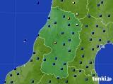 山形県のアメダス実況(日照時間)(2017年10月12日)