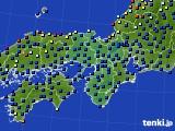 2017年10月13日の近畿地方のアメダス(日照時間)