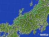 北陸地方のアメダス実況(風向・風速)(2017年10月13日)