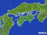 2017年10月14日の四国地方のアメダス(降水量)
