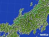 北陸地方のアメダス実況(風向・風速)(2017年10月14日)