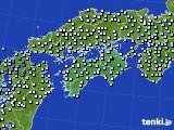 2017年10月15日の四国地方のアメダス(降水量)