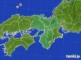 2017年10月15日の近畿地方のアメダス(積雪深)