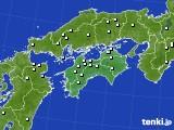 2017年10月19日の四国地方のアメダス(降水量)