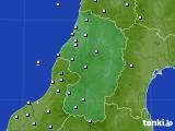 山形県のアメダス実況(降水量)(2017年10月23日)