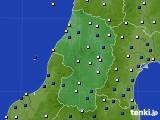 山形県のアメダス実況(風向・風速)(2017年10月23日)