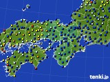2017年10月24日の近畿地方のアメダス(日照時間)