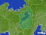 2017年10月24日の滋賀県のアメダス(気温)