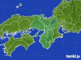 2017年10月25日の近畿地方のアメダス(積雪深)