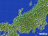 北陸地方のアメダス実況(風向・風速)(2017年10月27日)