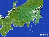 関東・甲信地方のアメダス実況(降水量)(2017年11月30日)
