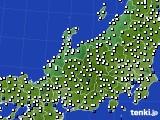 北陸地方のアメダス実況(風向・風速)(2017年11月30日)