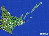 道東のアメダス実況(風向・風速)(2017年11月30日)