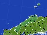 島根県のアメダス実況(風向・風速)(2017年11月30日)