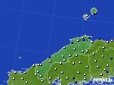 島根県のアメダス実況(風向・風速)(2017年12月17日)