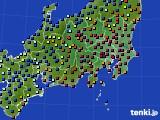 関東・甲信地方のアメダス実況(日照時間)(2017年12月29日)
