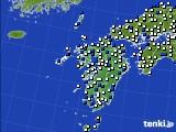 九州地方のアメダス実況(風向・風速)(2017年12月31日)
