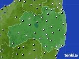 福島県のアメダス実況(風向・風速)(2017年12月31日)