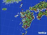 九州地方のアメダス実況(日照時間)(2018年01月01日)