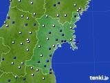 2018年01月01日の宮城県のアメダス(風向・風速)