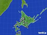 北海道地方のアメダス実況(降水量)(2018年01月02日)