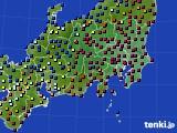 関東・甲信地方のアメダス実況(日照時間)(2018年01月02日)