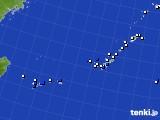 沖縄地方のアメダス実況(風向・風速)(2018年01月02日)