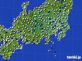関東・甲信地方のアメダス実況(風向・風速)(2018年01月02日)
