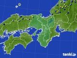 近畿地方のアメダス実況(積雪深)(2018年01月03日)