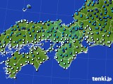 近畿地方のアメダス実況(気温)(2018年01月03日)
