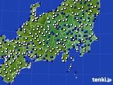 関東・甲信地方のアメダス実況(風向・風速)(2018年01月03日)