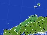 島根県のアメダス実況(風向・風速)(2018年01月03日)