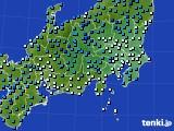 関東・甲信地方のアメダス実況(気温)(2018年01月05日)