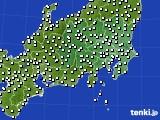 関東・甲信地方のアメダス実況(風向・風速)(2018年01月05日)