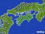 四国地方のアメダス実況(降水量)(2018年01月10日)