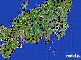 関東・甲信地方のアメダス実況(日照時間)(2018年01月11日)