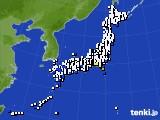 アメダス実況(風向・風速)(2018年01月17日)
