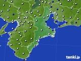 2018年01月20日の三重県のアメダス(風向・風速)