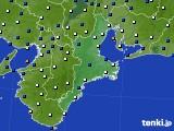 2018年01月23日の三重県のアメダス(風向・風速)