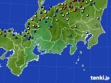 東海地方のアメダス実況(積雪深)(2018年01月27日)