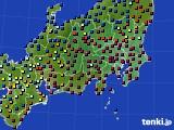 関東・甲信地方のアメダス実況(日照時間)(2018年01月27日)