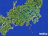 関東・甲信地方のアメダス実況(風向・風速)(2018年01月27日)
