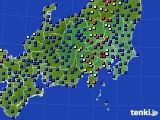 関東・甲信地方のアメダス実況(日照時間)(2018年01月28日)