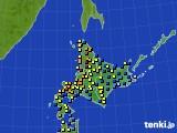北海道地方のアメダス実況(積雪深)(2018年01月29日)