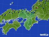 近畿地方のアメダス実況(積雪深)(2018年01月29日)